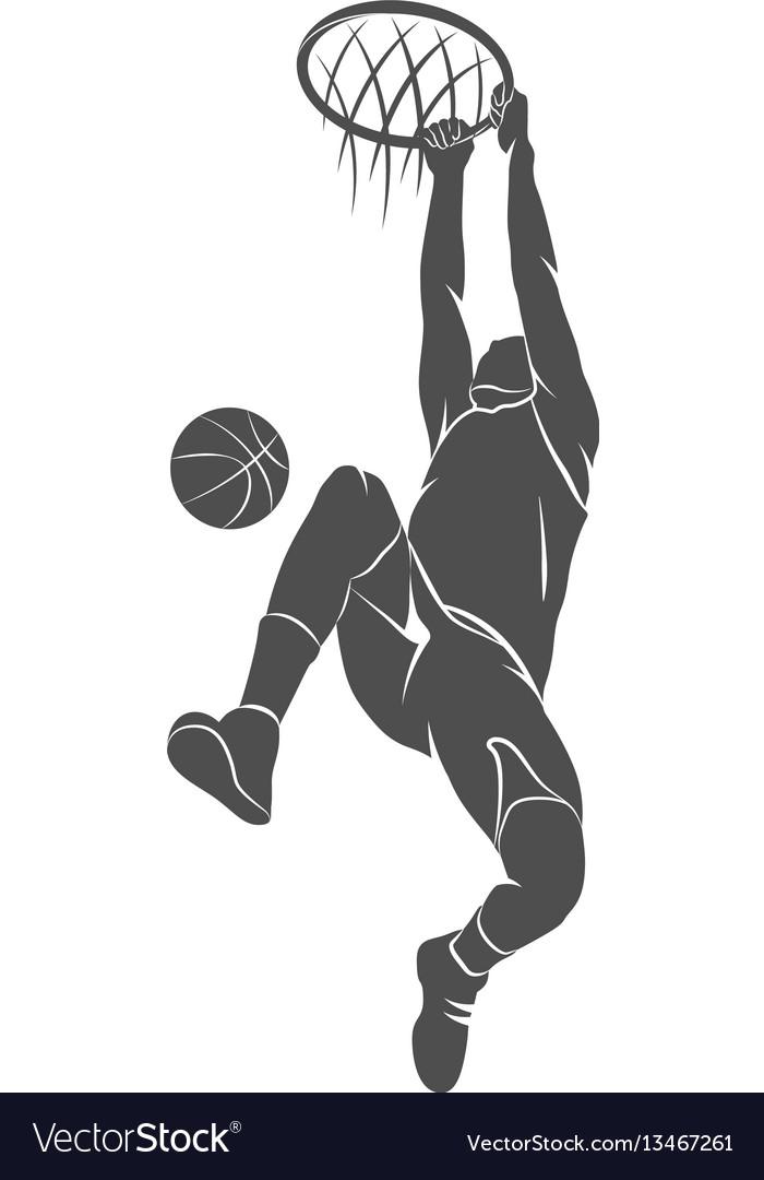 Basketball player ball