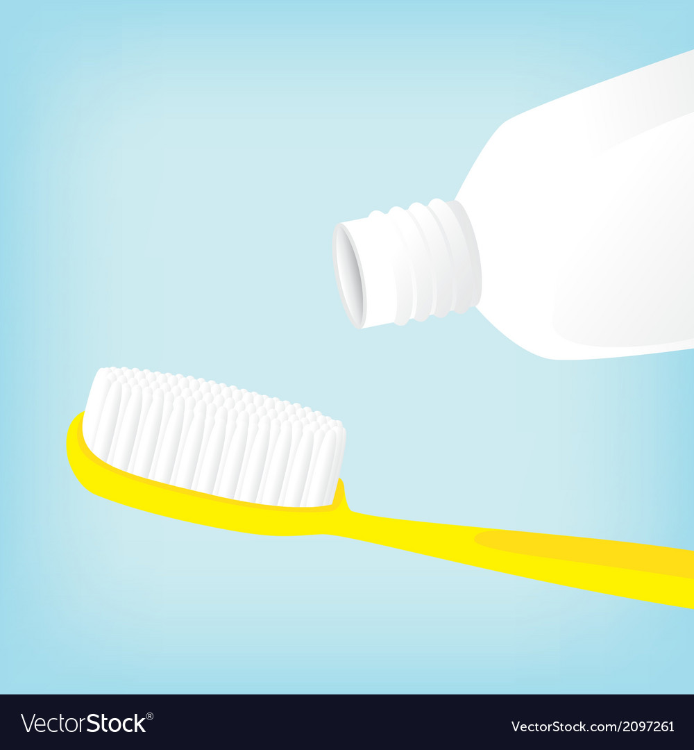 Brush teeth with toothpaste empty vector image