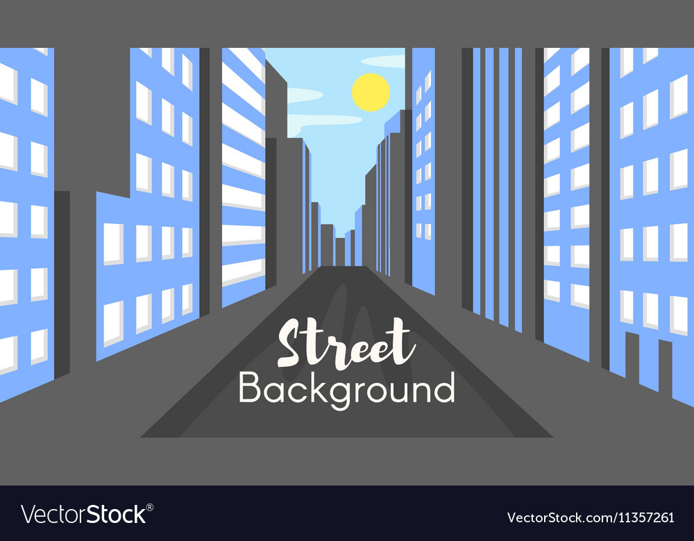 Flat style of city street vector image