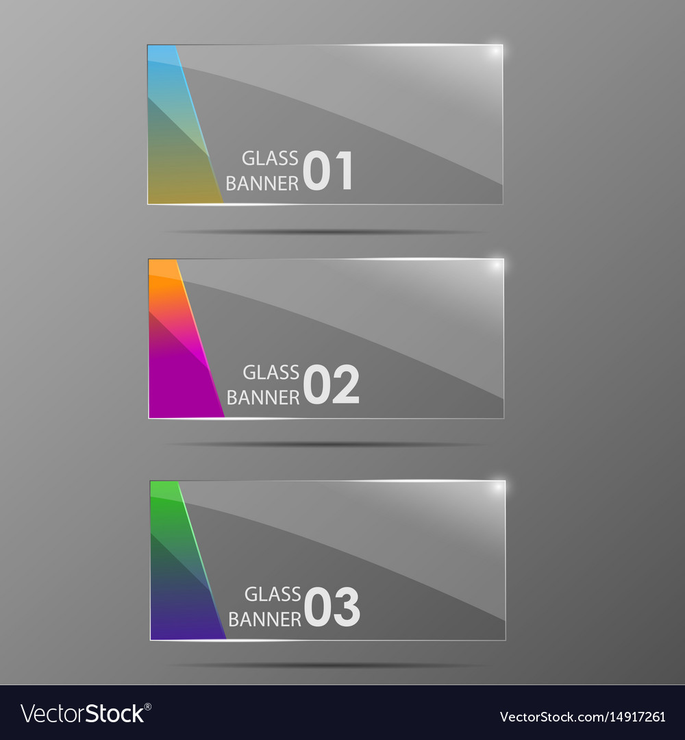 Glossy banners