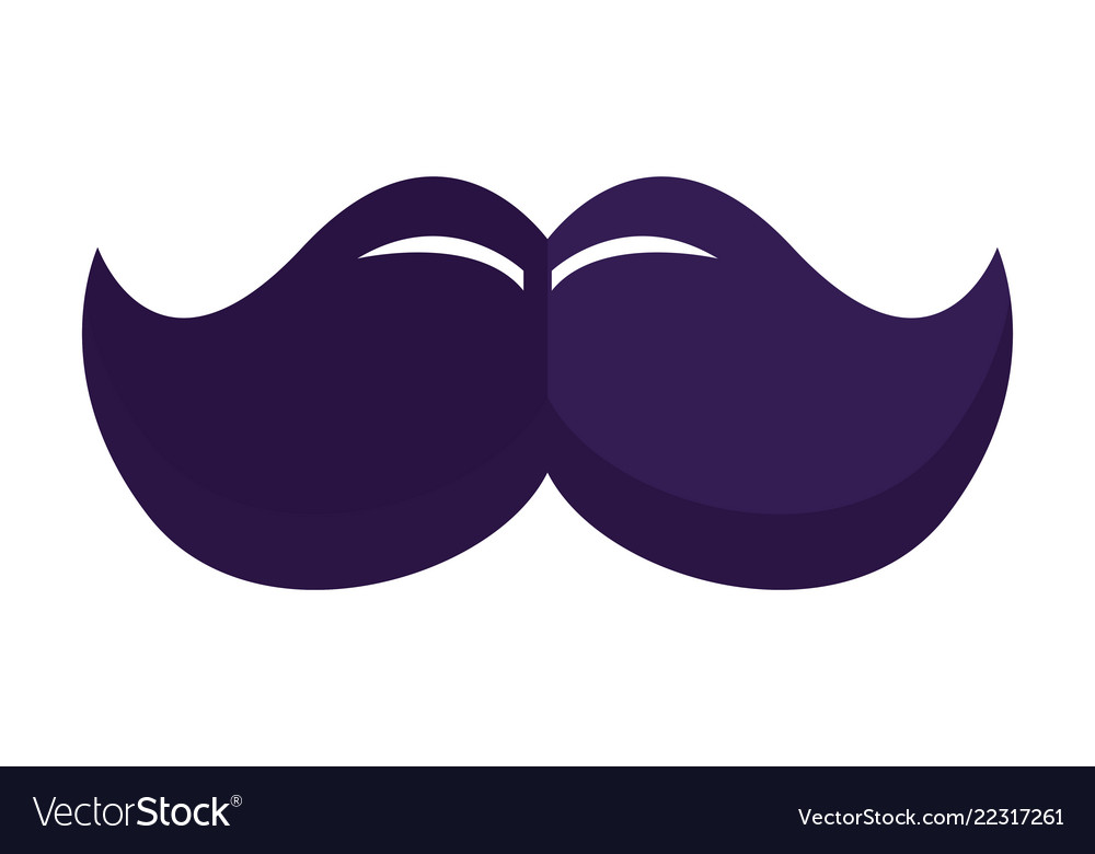 Mustache hipster symbol