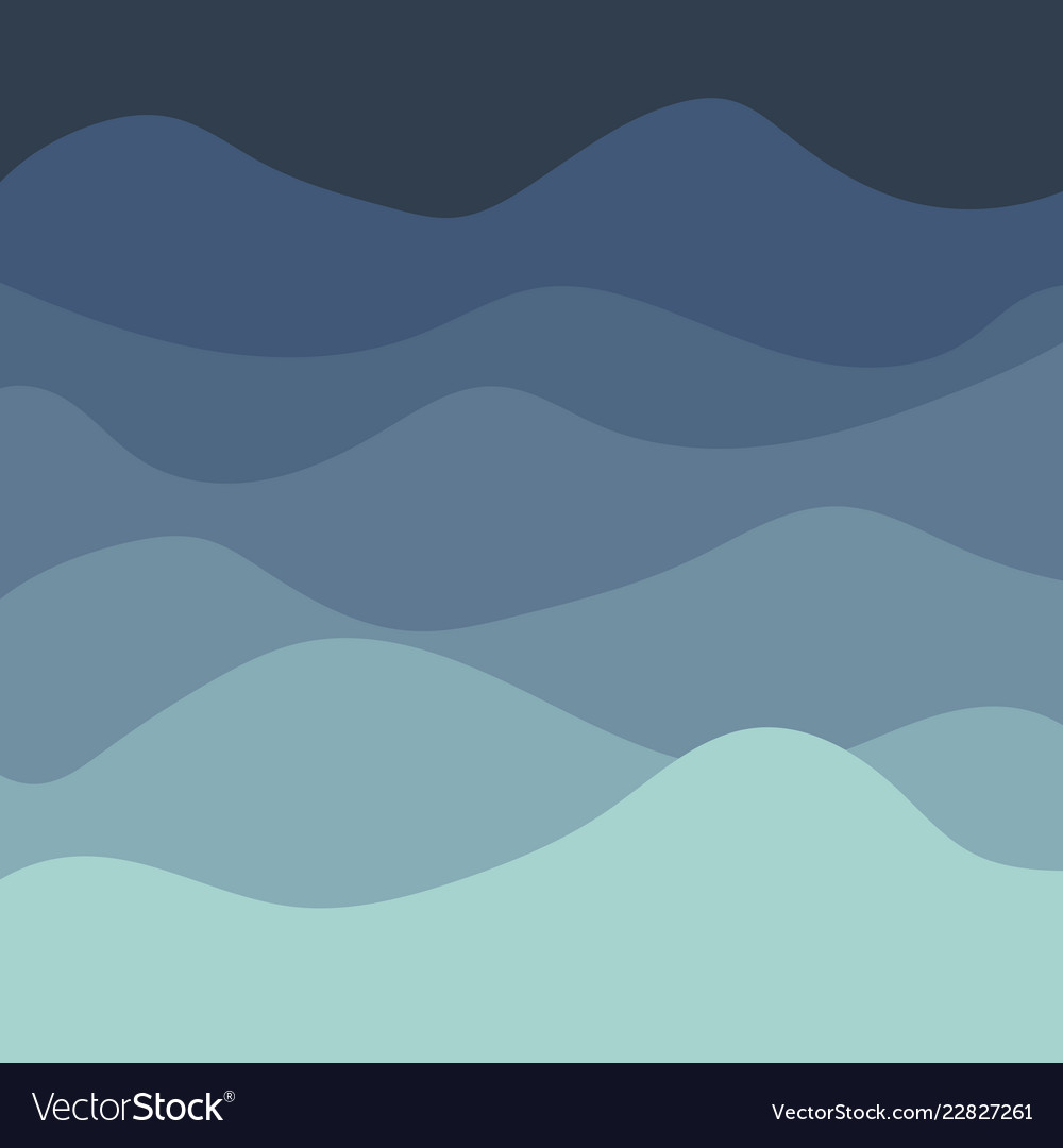 Sea waves background painting blue sea