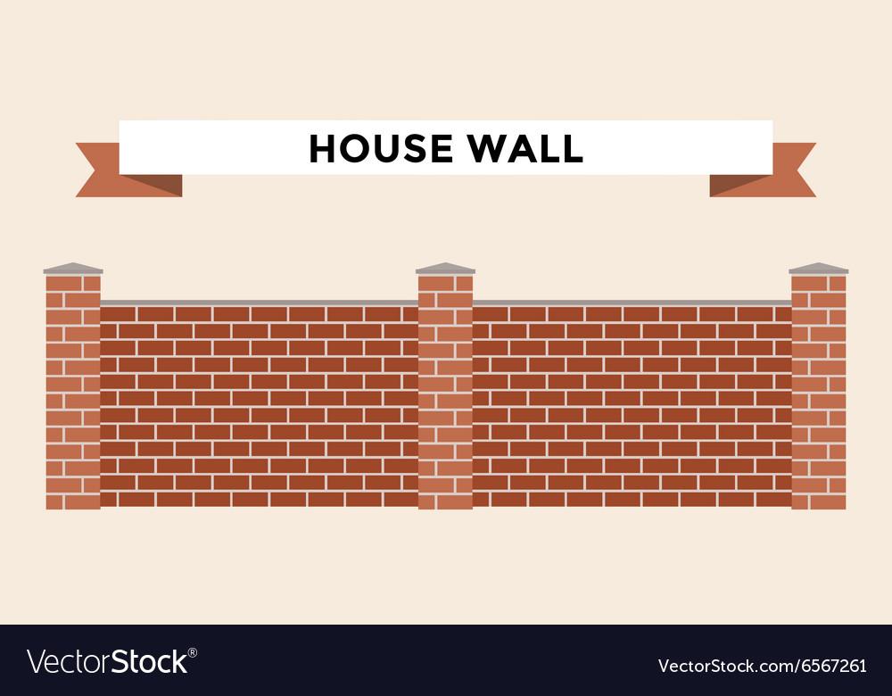 Stone Bricks Fence Isolated On White Background