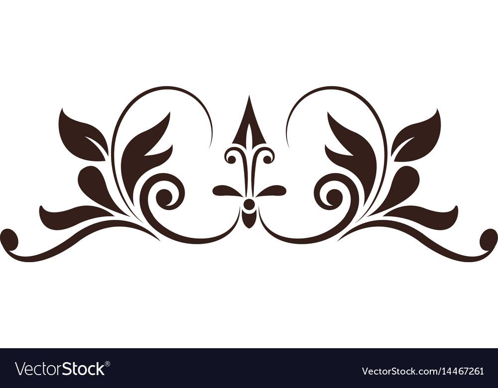 Vintage decoration element ornate image vector image