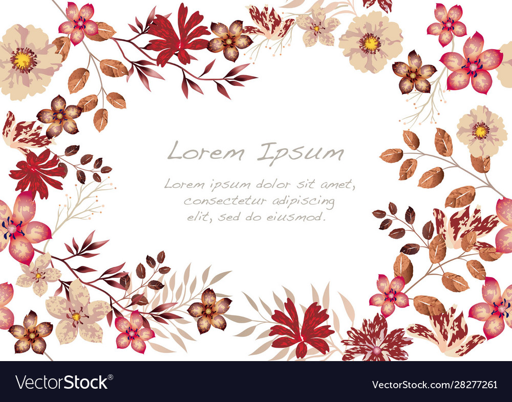 Watercolor seamless floral background