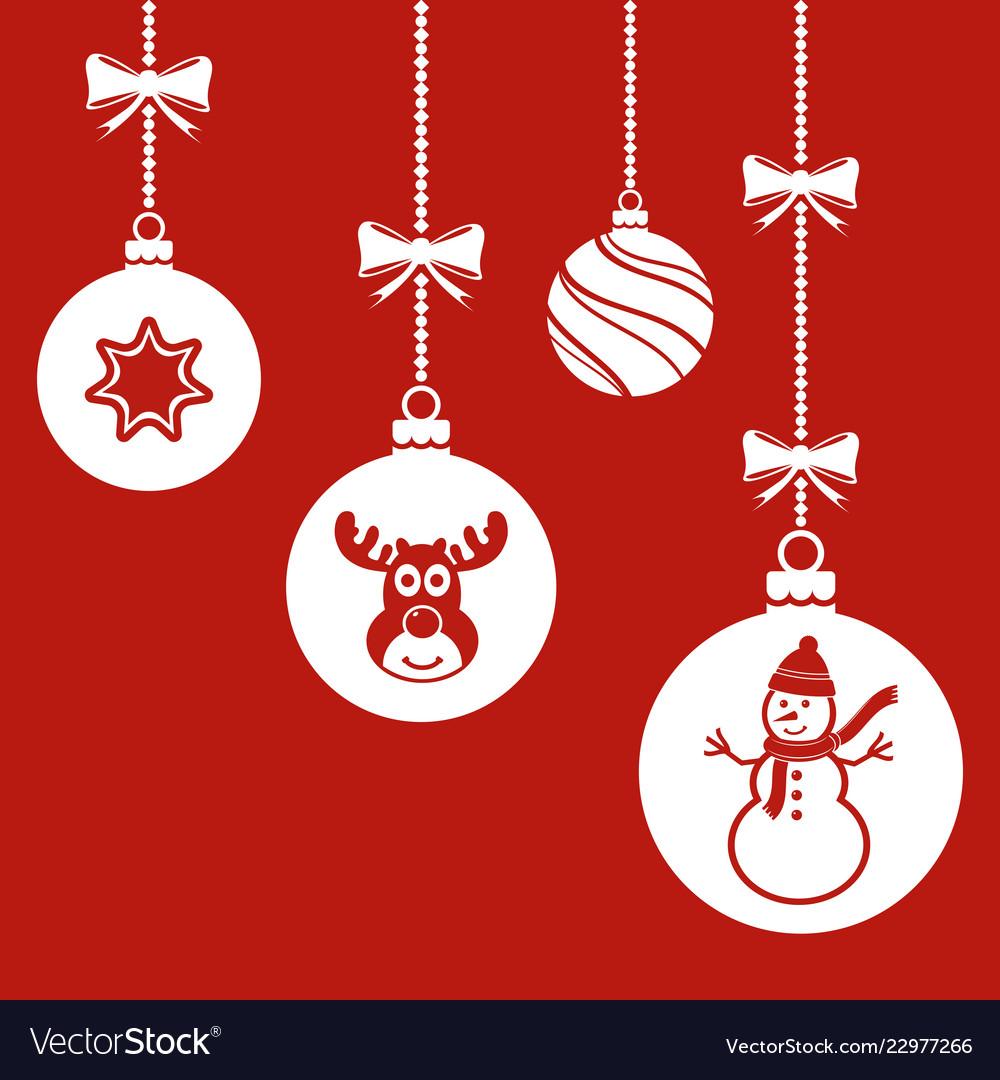 Christmas balls hanging ornament