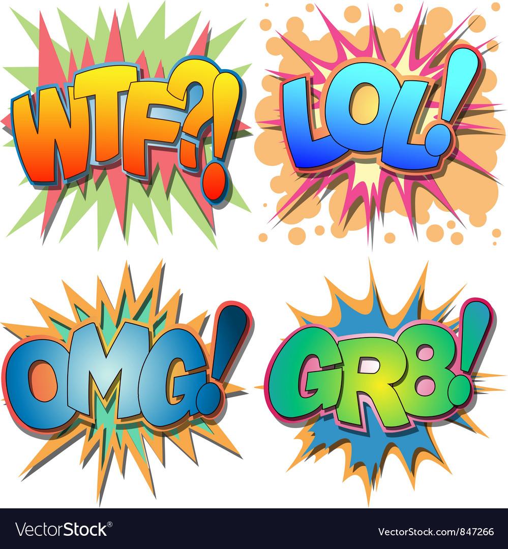 Comic Book Abbreviations vector image