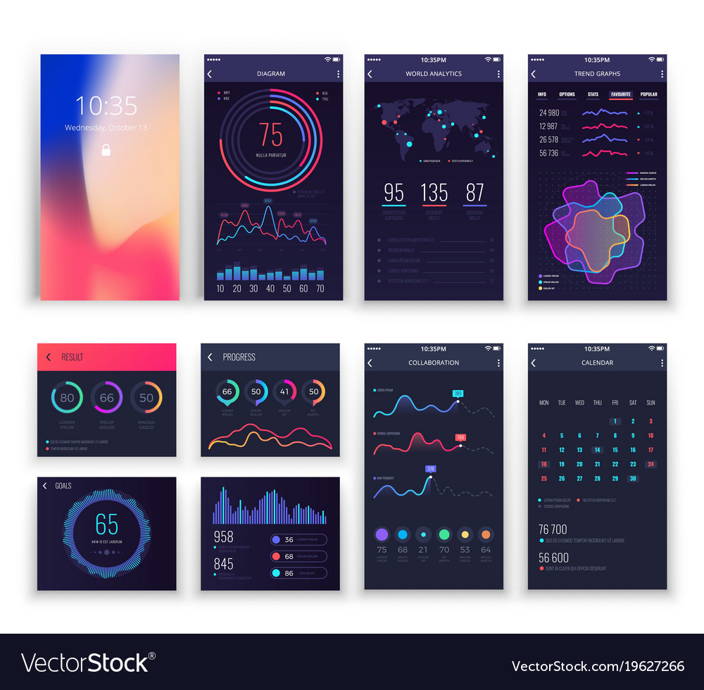 Mobile application ui and smartphone ux