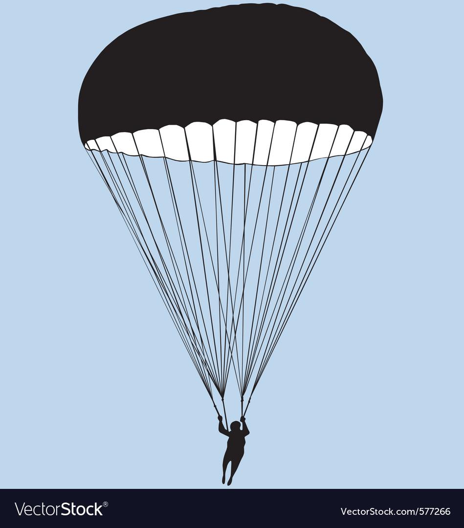 parachute royalty free vector image vectorstock rh vectorstock com parachute vector download parachute vector free