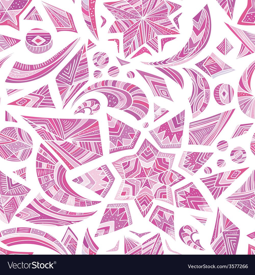 Pink aztec winter pattern