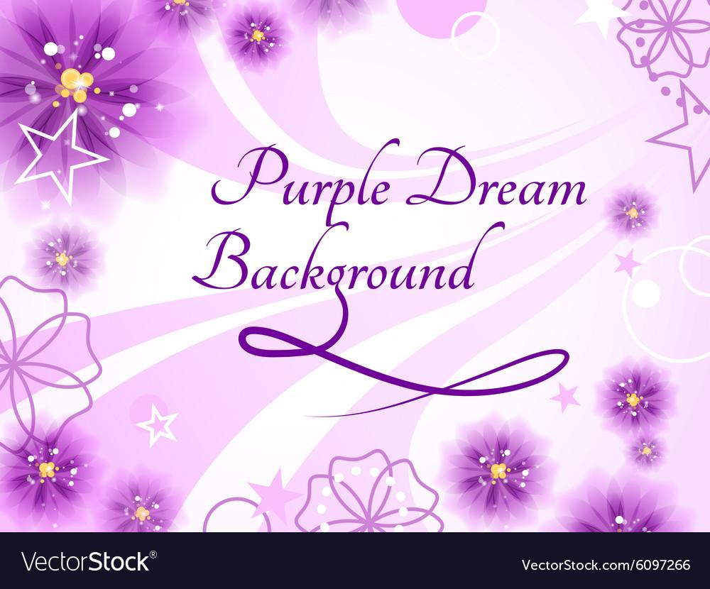 Purple Dream Background vector image