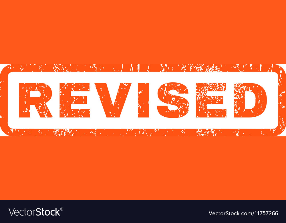 Revised Rubber Stamp vector image