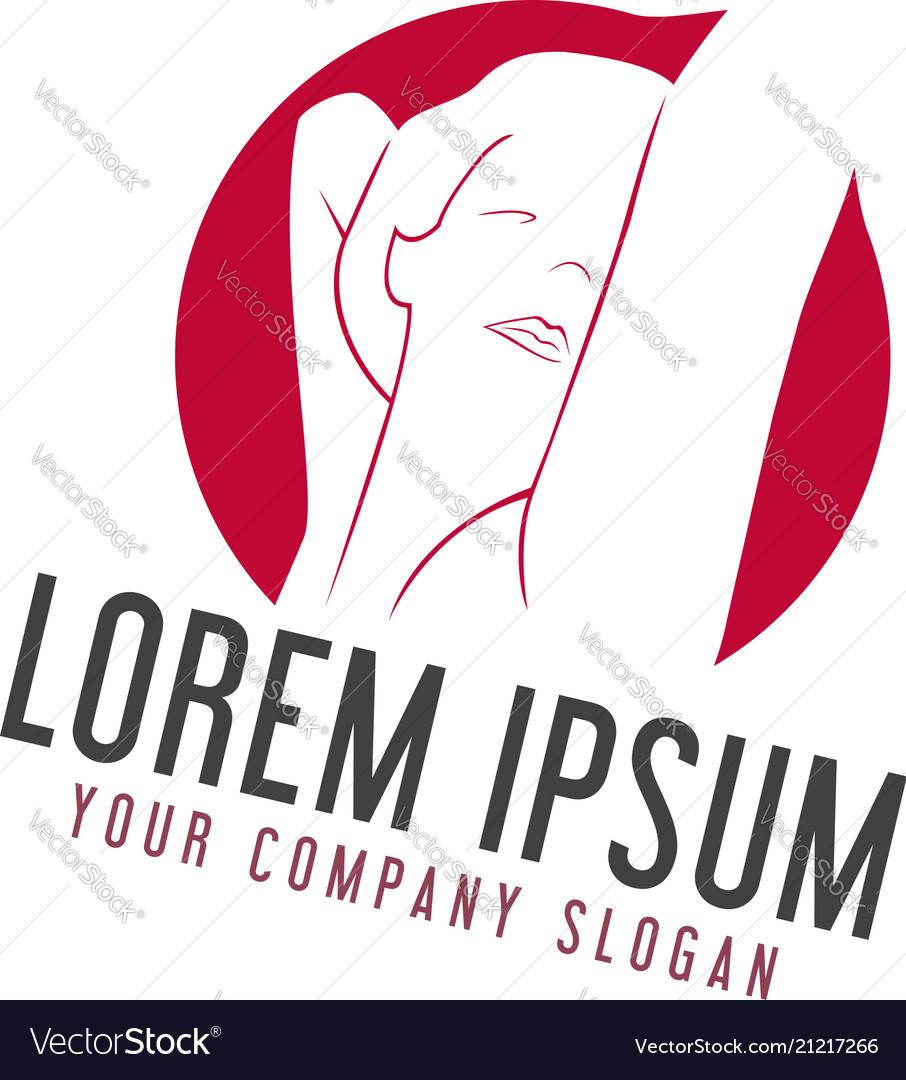 Sexy woman logo design concept template