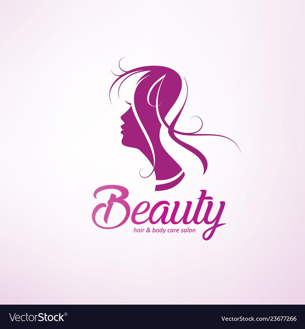 Womans hair style stylized sillhouette beauty
