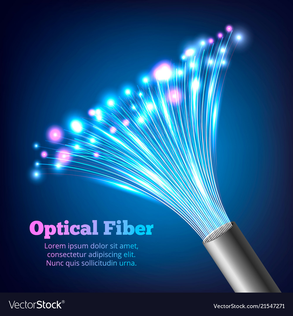 Electric cables optic fibers realistic composition
