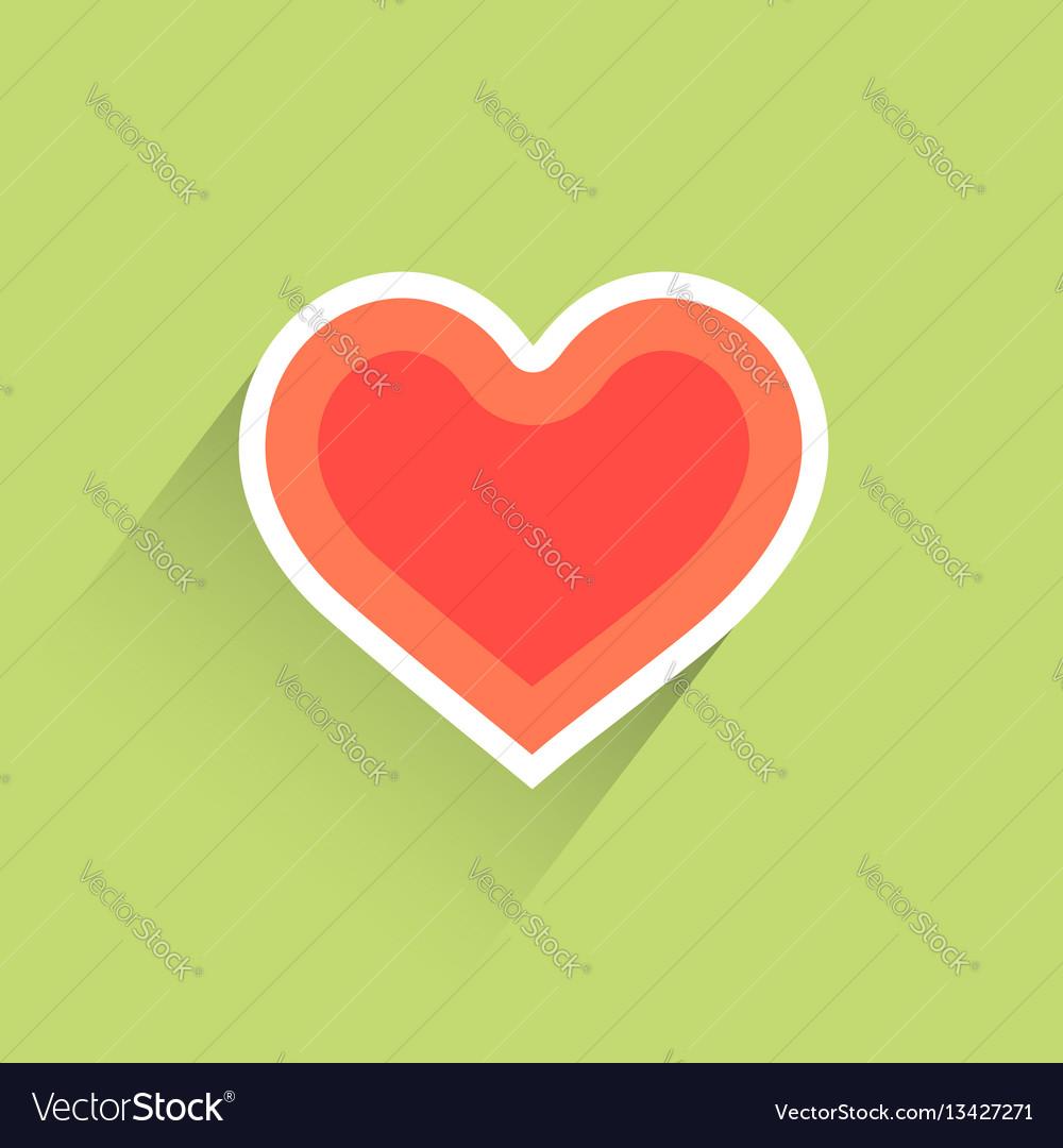 Flat heart heart icon