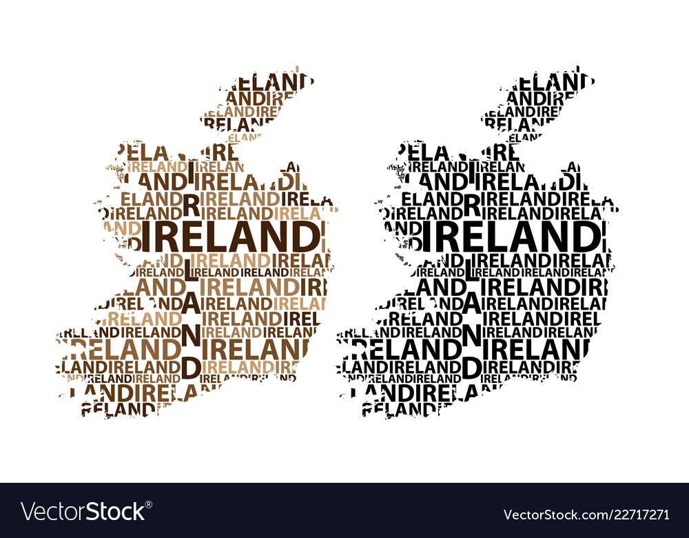 Map Of Ireland Vector.Map Of Ireland Vector Image