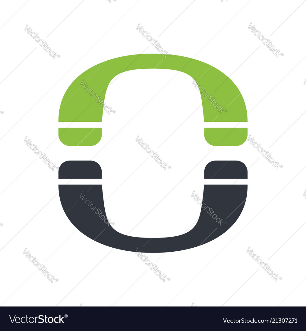 Phone initial o lettermark symbol logo design