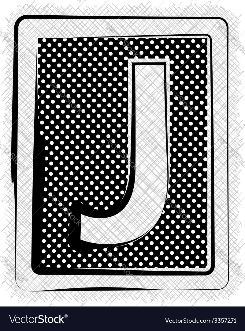 Polka Dot Font LETTER J vector image