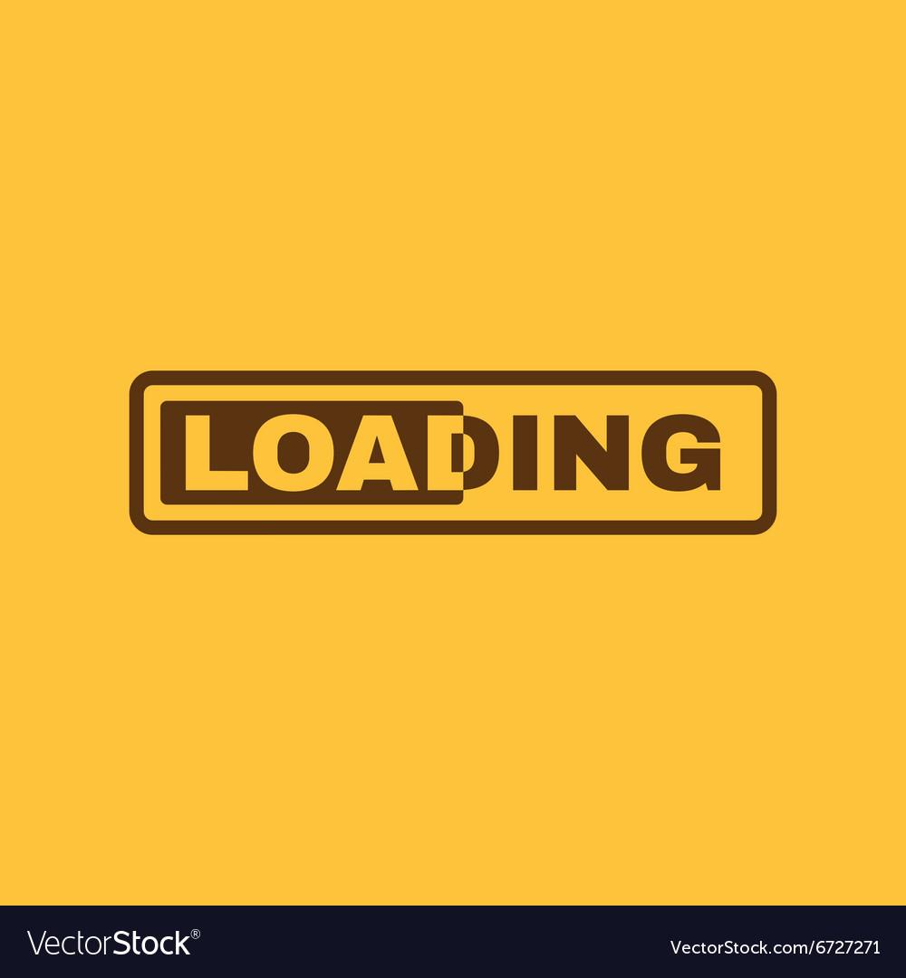 The loading icon preloader symbol Flat