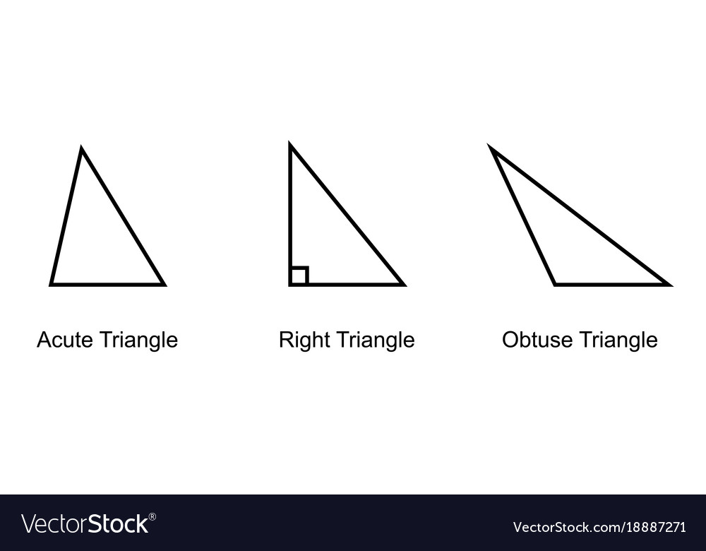 Types of triangles on white background royalty free vector types of triangles on white background vector image ccuart Gallery