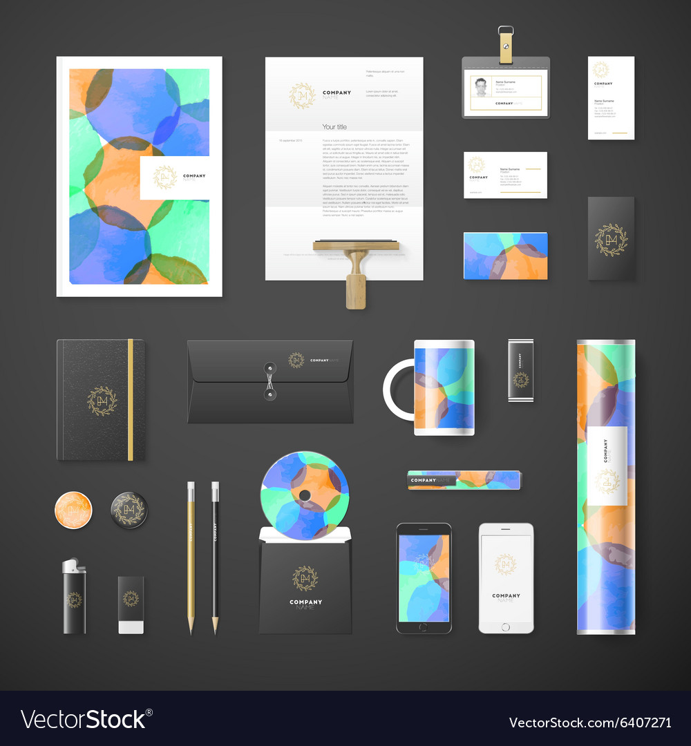 Watercolor corporate identity