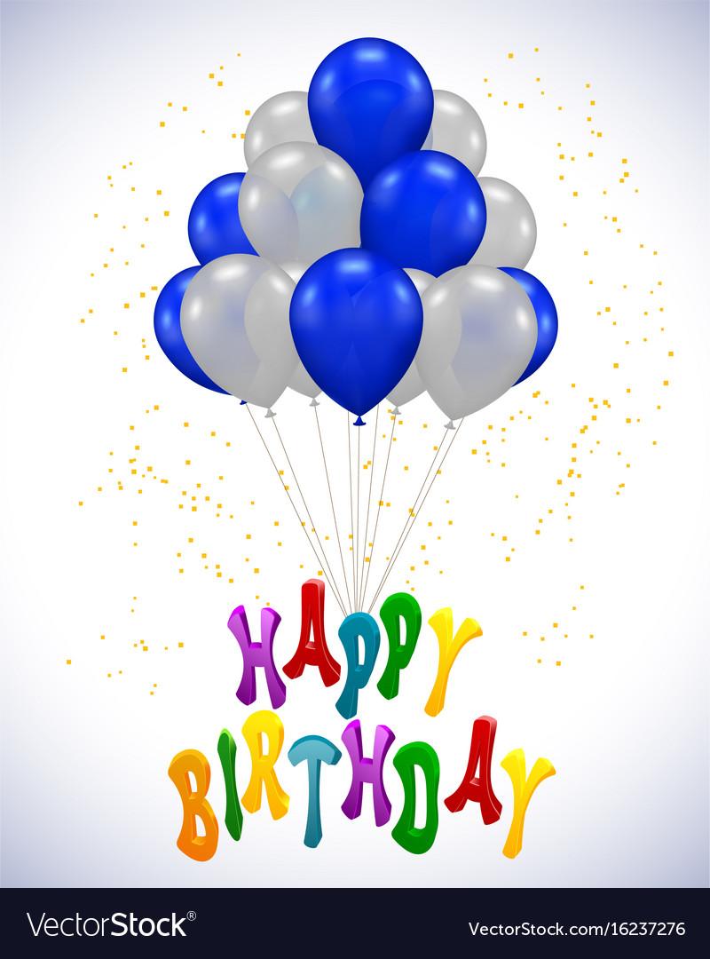 Ballon for party birthday