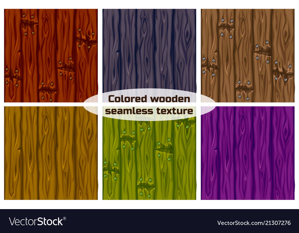 Big set seamless background texture colored wooden