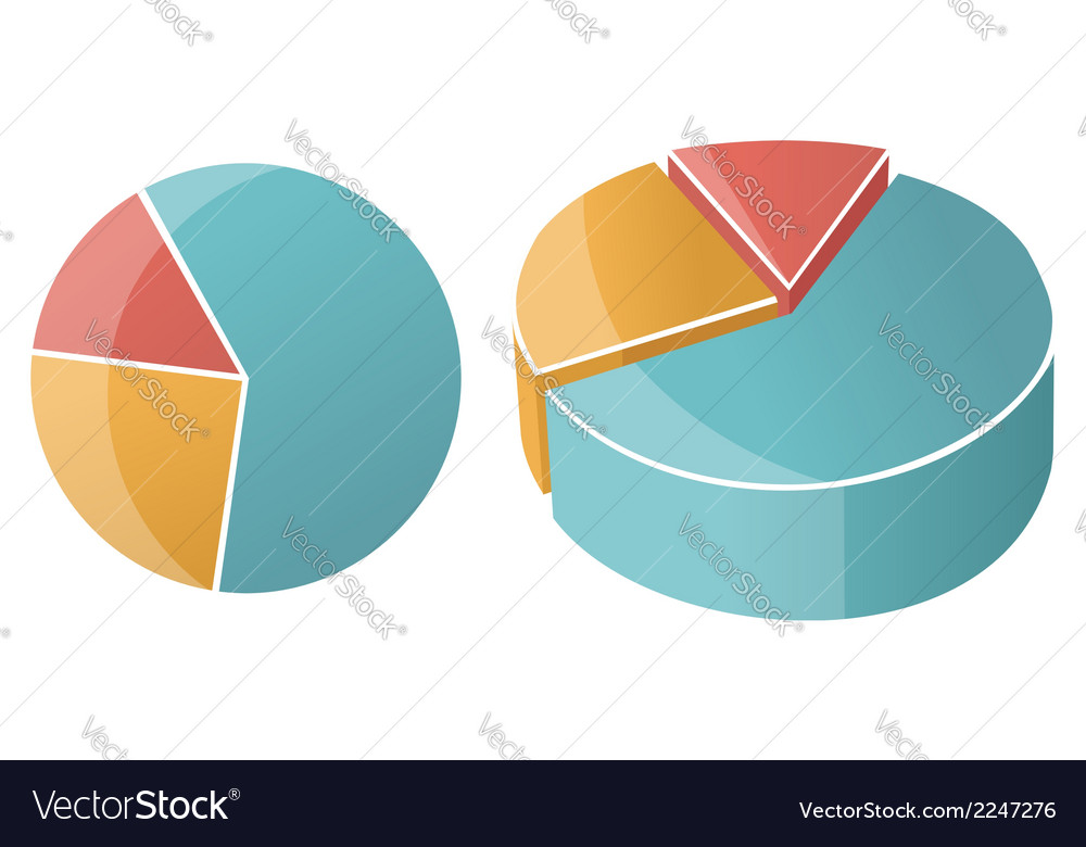 Business Pie Chart Graph Royalty Free Vector Image