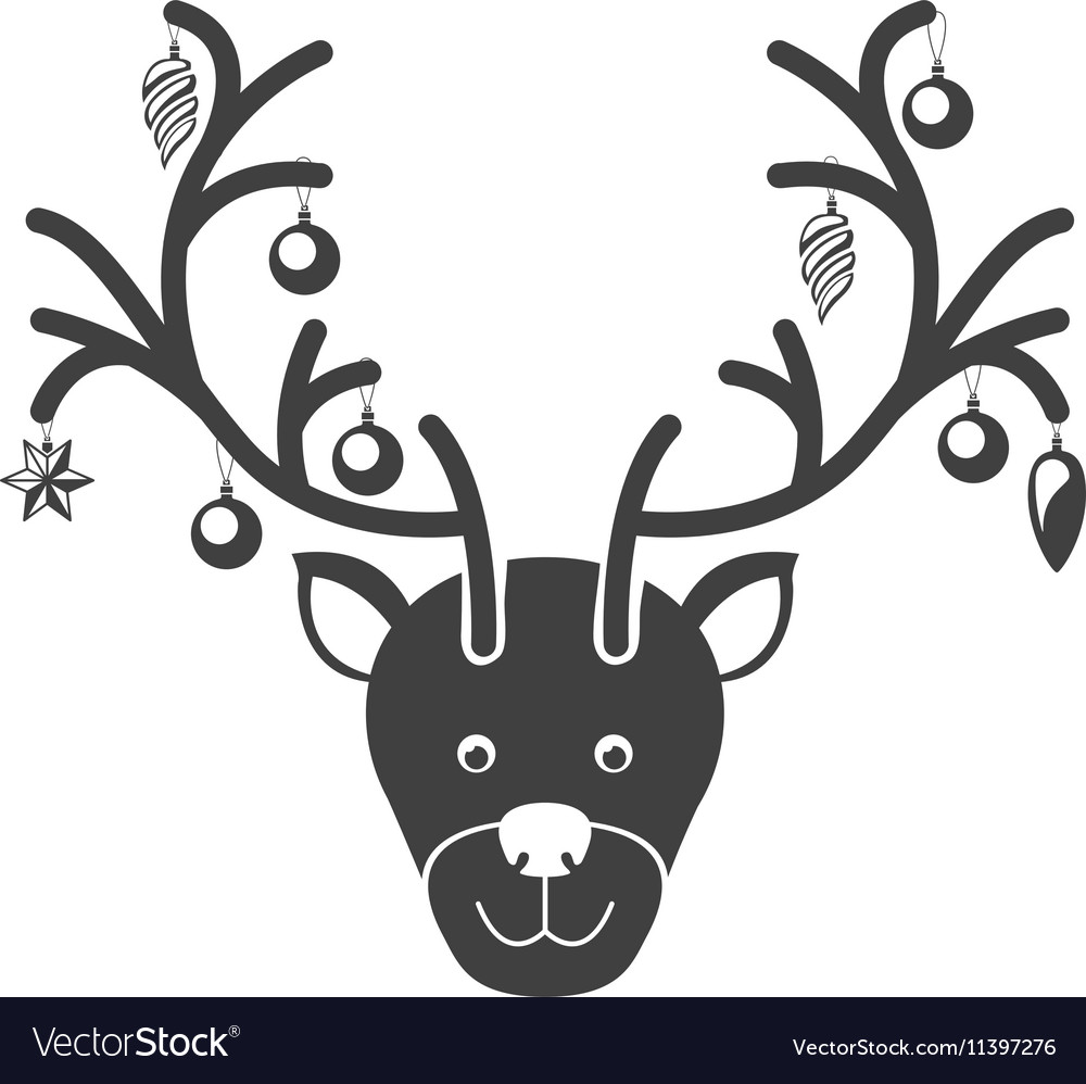 Christmas reindeer icon
