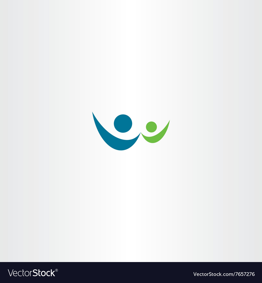 Man and child people sign logo icon