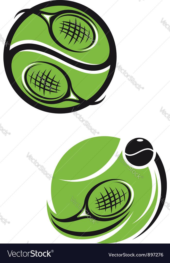 Tennis emblems vector image