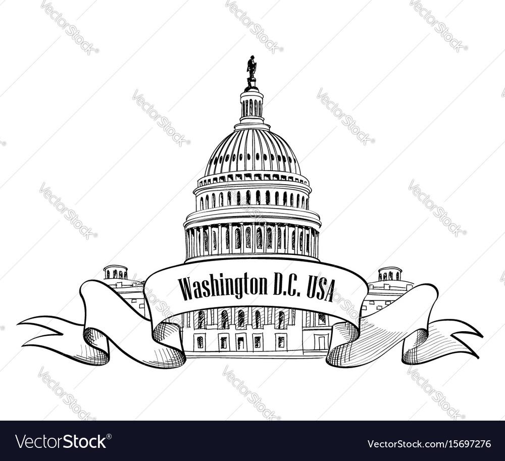 Washington dc usa travel sign