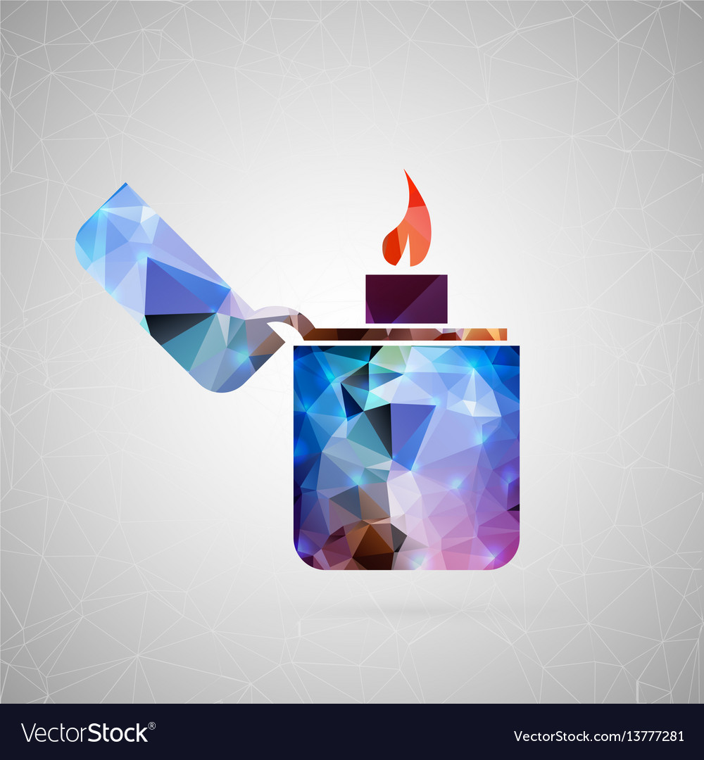 Abstract creative concept icon of lighter