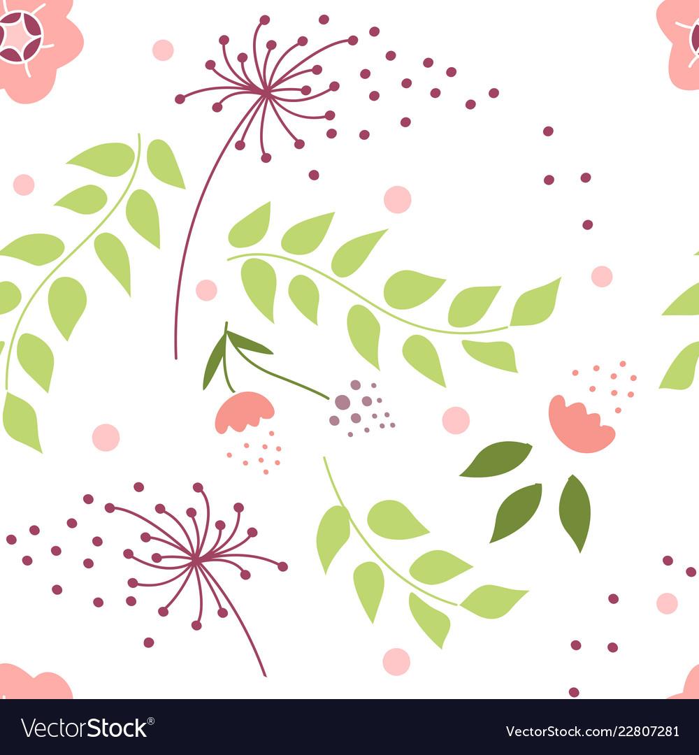 Flower pollen pattern seamless pattern natural