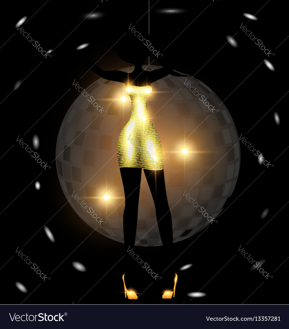 Girl and dance vector image