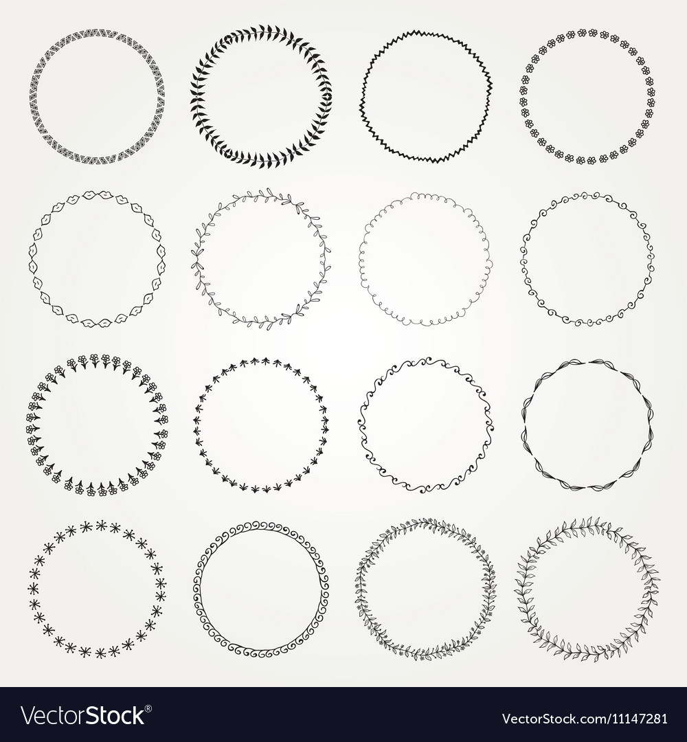 Hand Drawn Circle Logo and Badge Elements