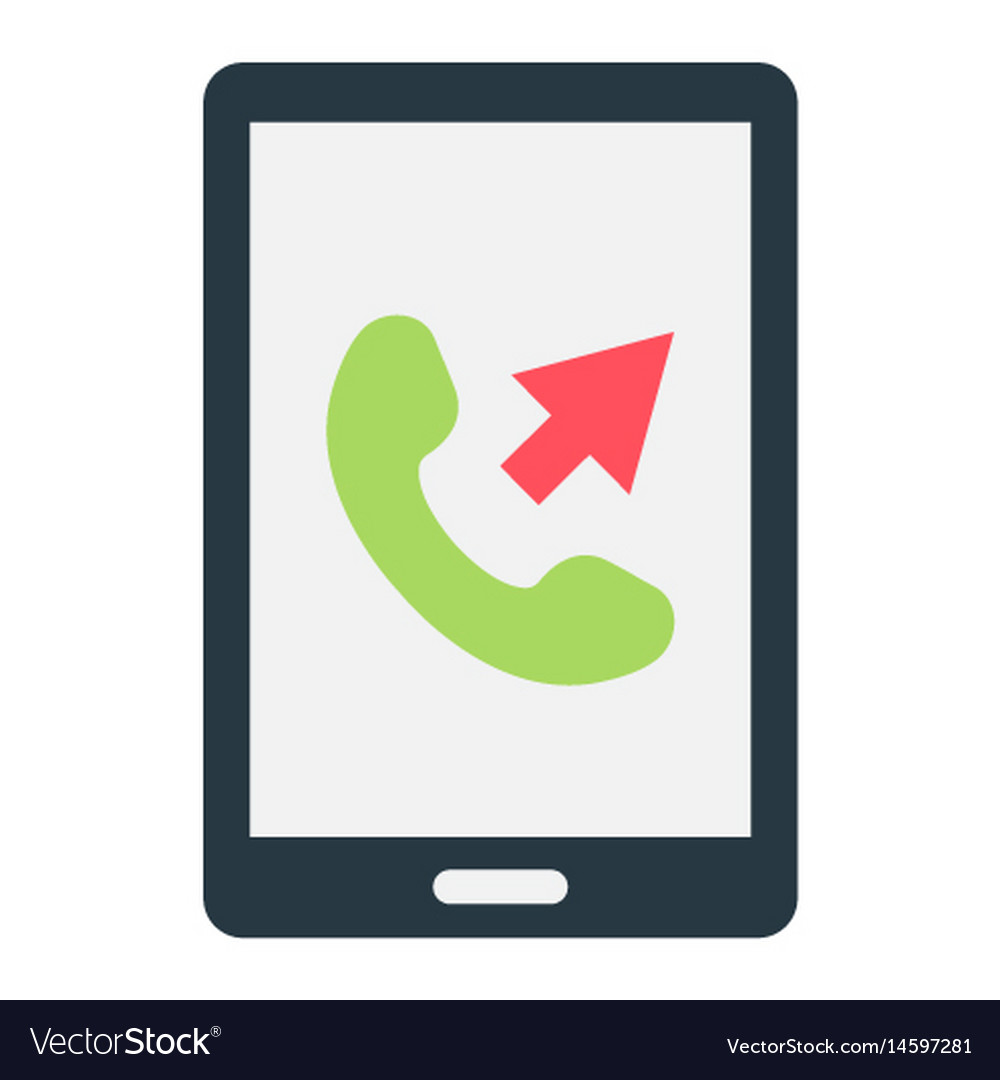 Outgoing call flat icon contact us and website