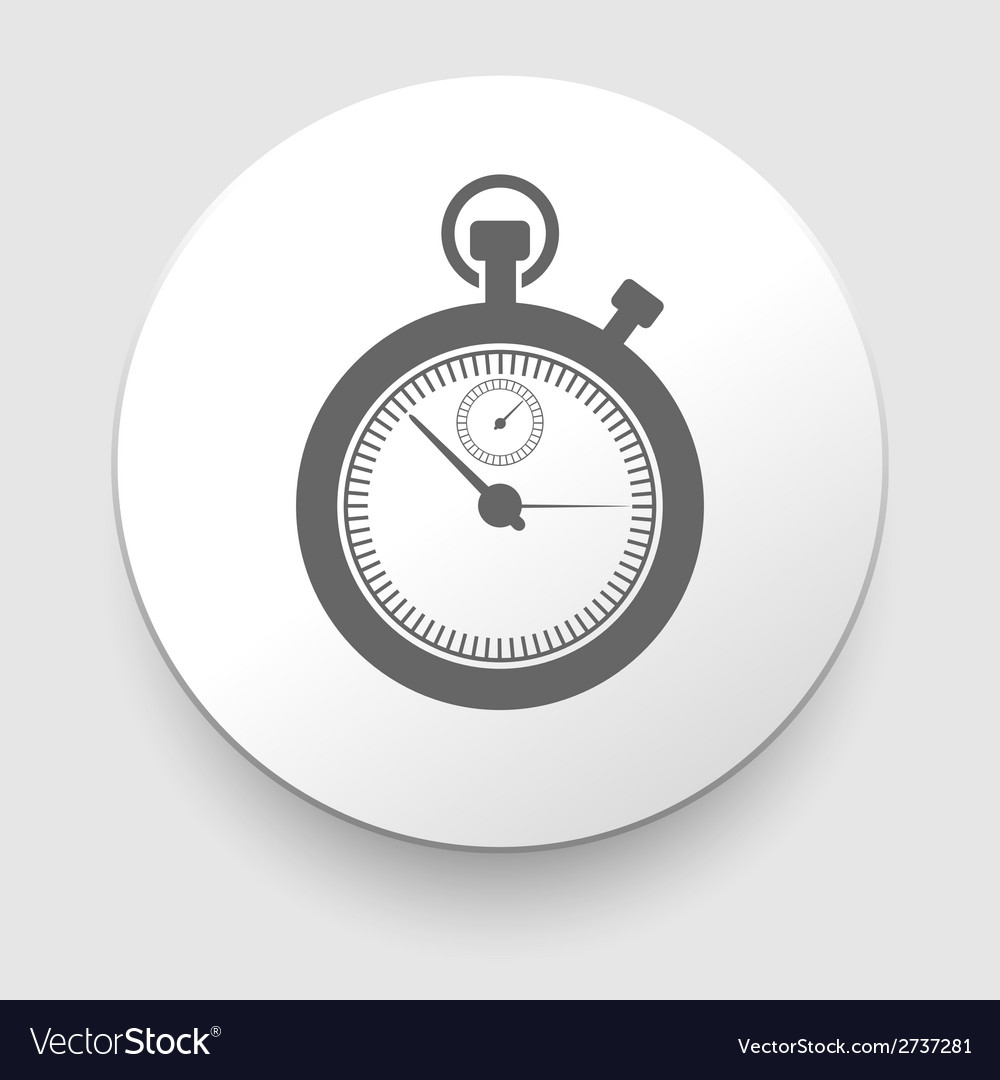 Stopwatch web black icon isolated