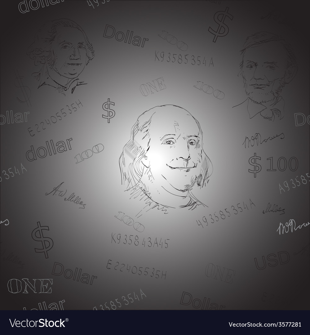USD pattern vector image