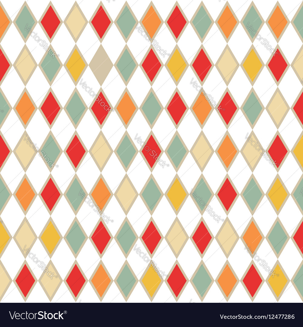 Abstract retro background with rhombus vector image