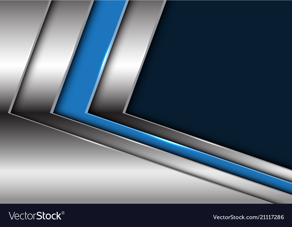 Blue silver arrow with dark blank space