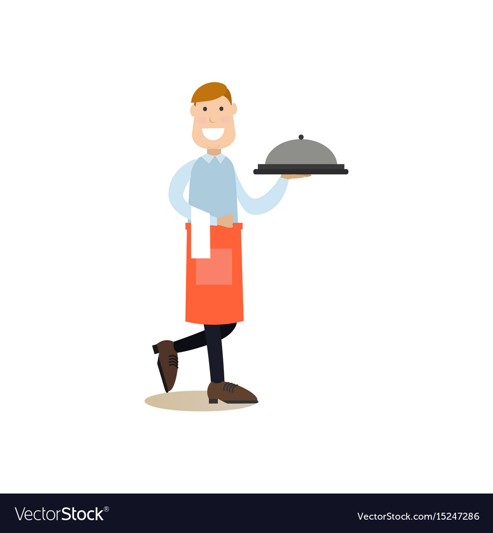 Cook people in flat style