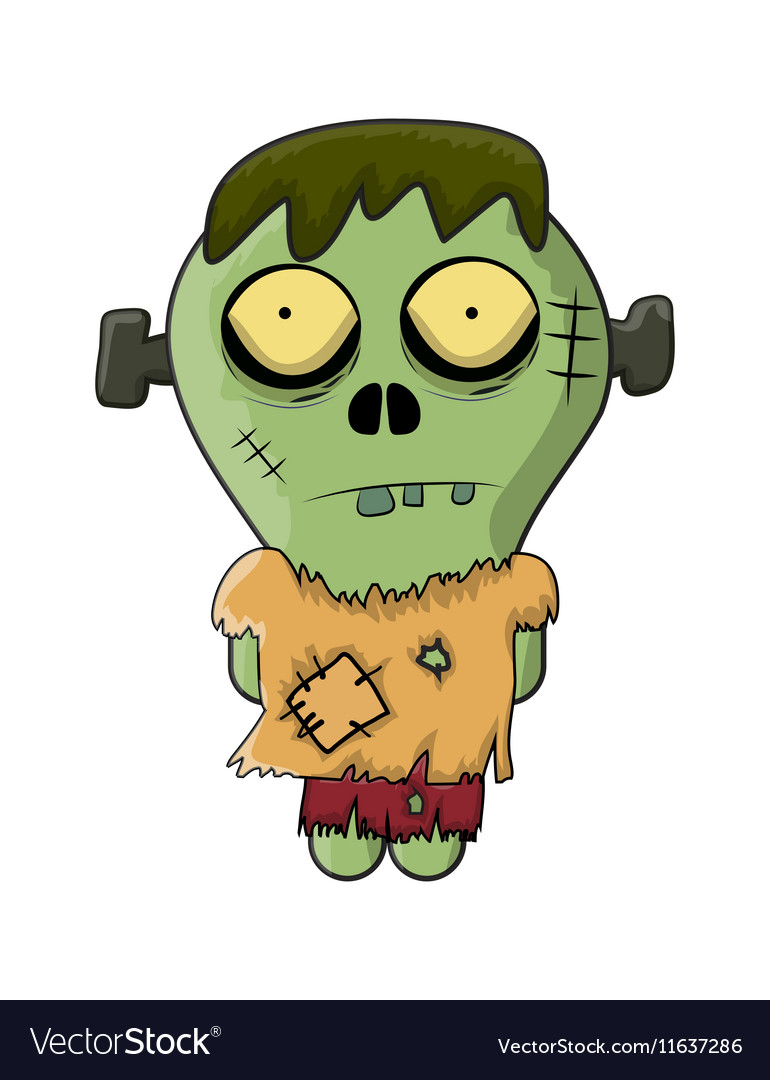 Cute Zombie Frankenstein for Halloween Royalty Free Vector