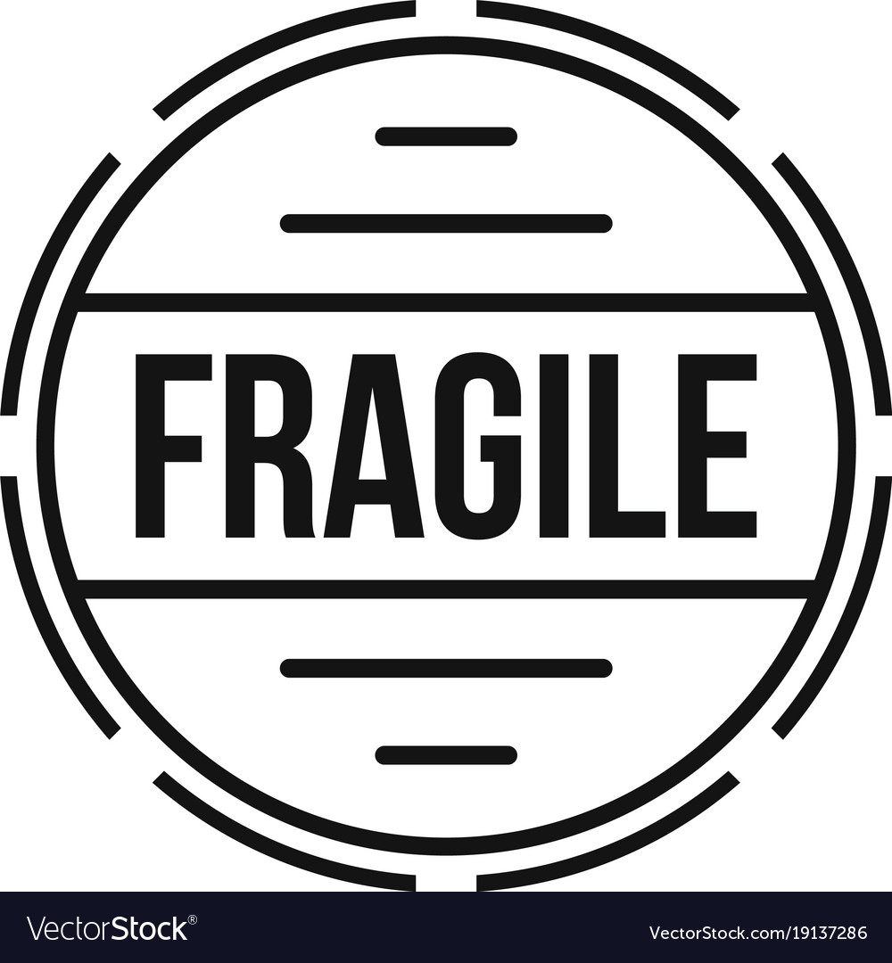 fragile logo simple style royalty free vector image rh vectorstock com fragile logo vector fragile logo handle care