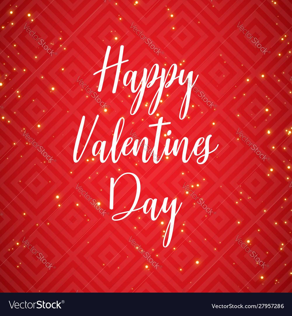 Hand drawn happy valentines day text