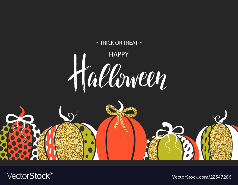 Happy halloween poster with cute glamorous