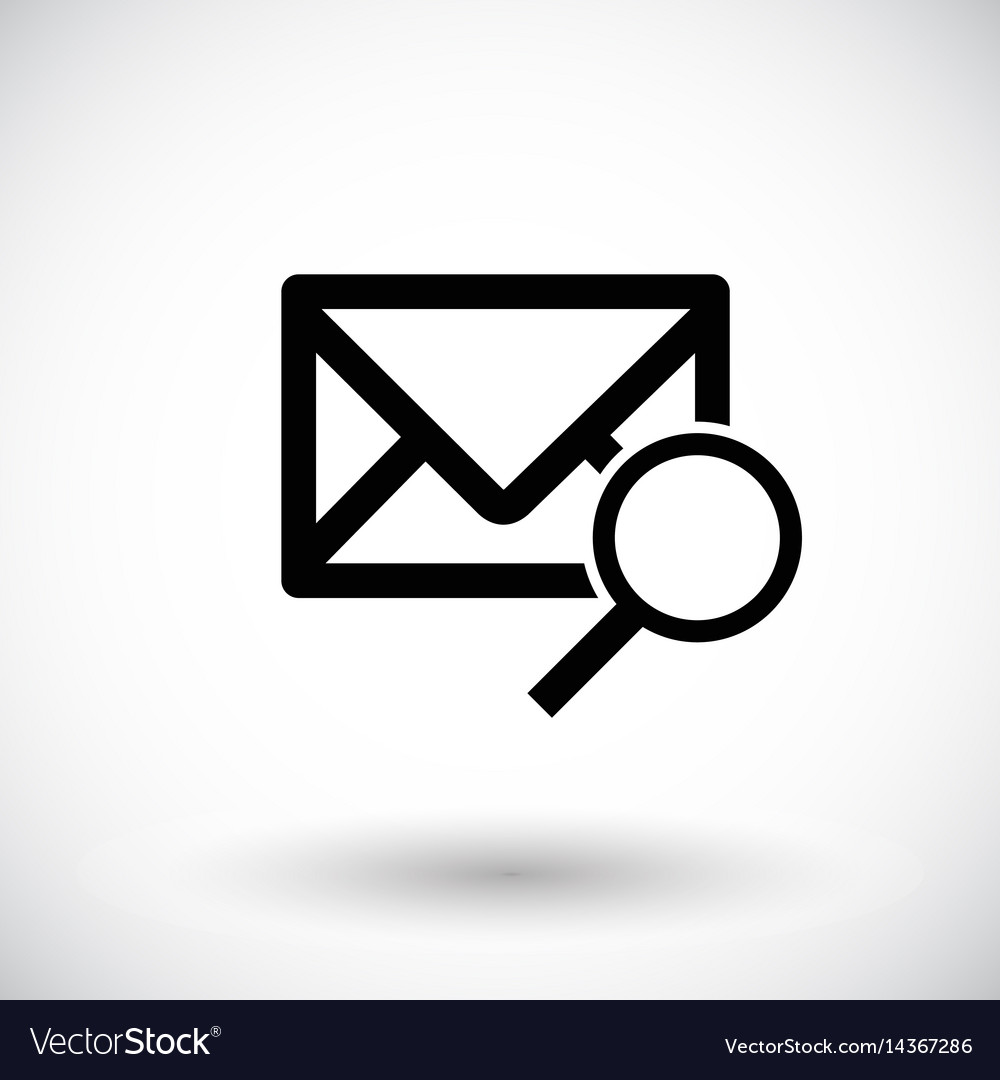 Mail with magnifying glass flat icon vector image