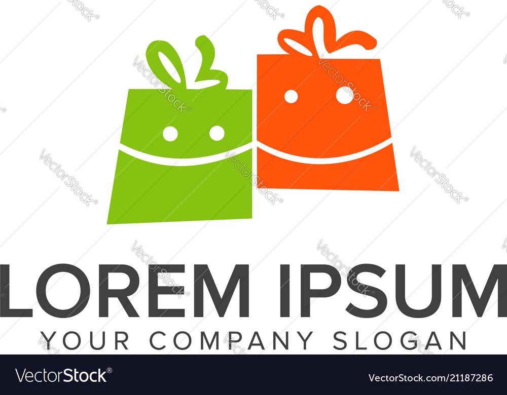 Smile shopping bag logo