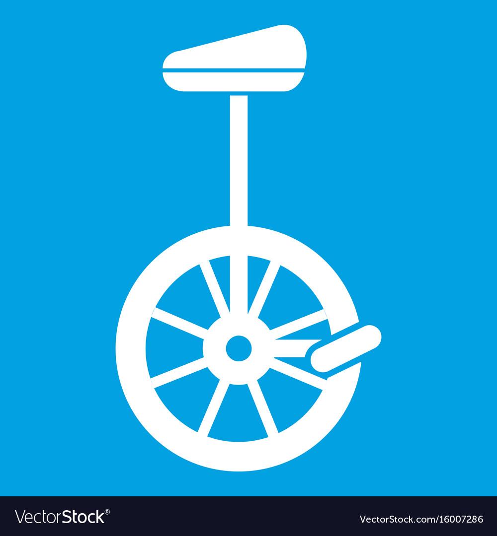 Unicycle icon white